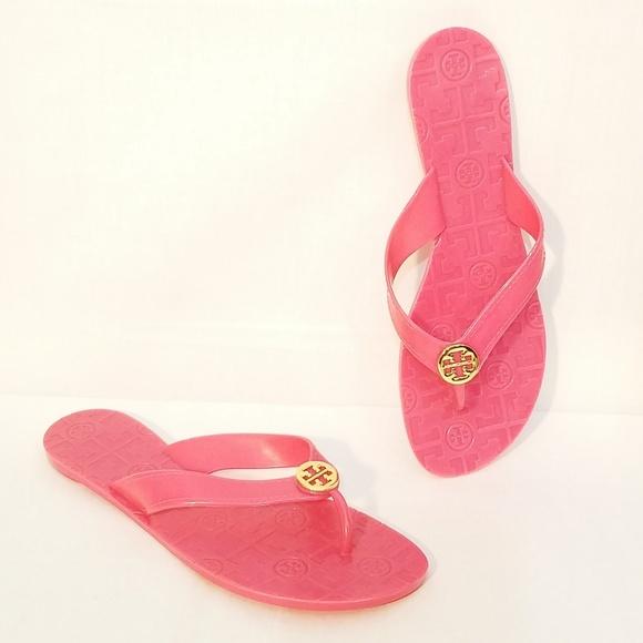 1b1f90f81d41 Tory Burch NWOB Pink Jelly Thora Thong Sandals. M 5b47dd4ac9bf50f990c768b5